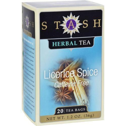 Stash Tea Company Premium Licorice Spice Herbal Tea - Caffeine Free - Case of 6 - 20 Bags