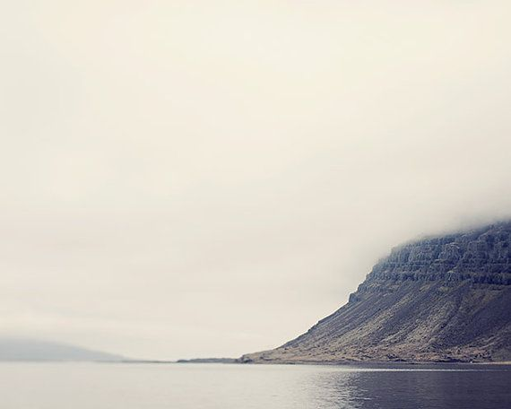 Foggy Landscape Photography Nature Art by EyePoetryPhotography (Art & Collectibles, Photography, Color, Nature Art, Peaceful Art, Fine Art Photography, Minimalist Art, Foggy Landscape, Landscape, Iceland, Lake, Mountain, Nature, Fog)