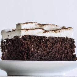 Mexican Chocolate Ice Cream Cake with Orange Meringue Recipe - Bon ...