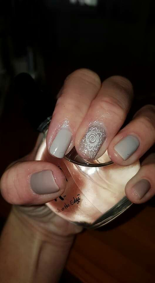 Earth tones gel overlay. By Chatah Nails By Tamaryn
