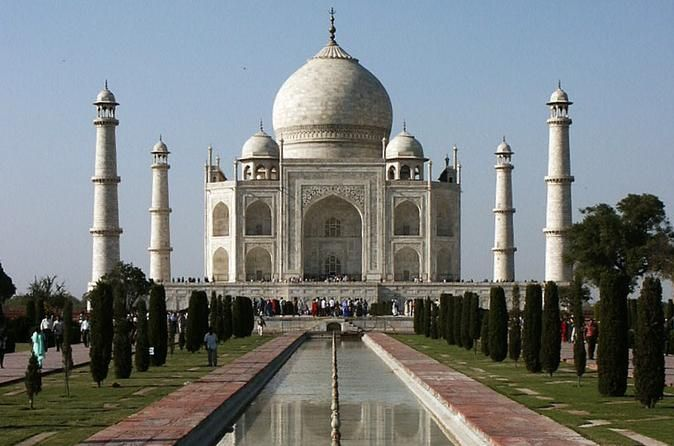 Taj Mahal Day Trip by Train from Jaipur Ending in Delhi Visit the Taj Mahal (A UNESCO World Heritage Site), the world's best-known tomb which stands testimony to the timeless love story of the 17th century Mughal Emperor, Shah Jahan, and his queen Mumtaz Mahal. You'll also visit Agra Fort (A UNESCO World Heritage Site), built by Emperor Akbar in 1565 A.D., this huge fort is made of red sandstone. Enjoy the evening shopping in Agra. Agra's major handicraft products besides inla...