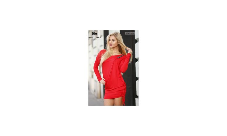 A Bő fazonú tunika ruha, piros ruha - Őszi Ruhák - Női Ruha Webáruház, Alkalmi ruhák webshop, tunika felső