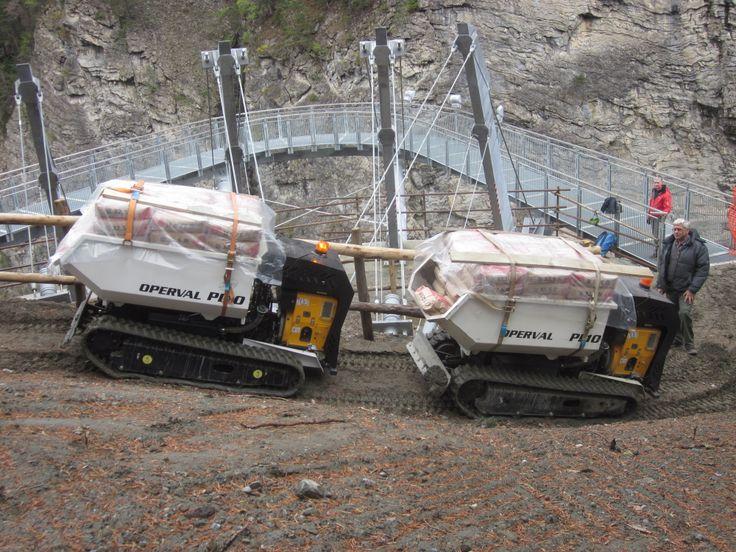 DUMPER PL10 radiocomandato al collaudo della passerella sulle cascate dell'Orrido a #presaintdidier #aostavalley