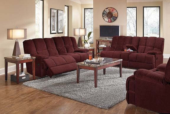 Burgundy Reclining Sofa Modern Burgundy Leather Reclining Sofa Loveseat Set Thesofa