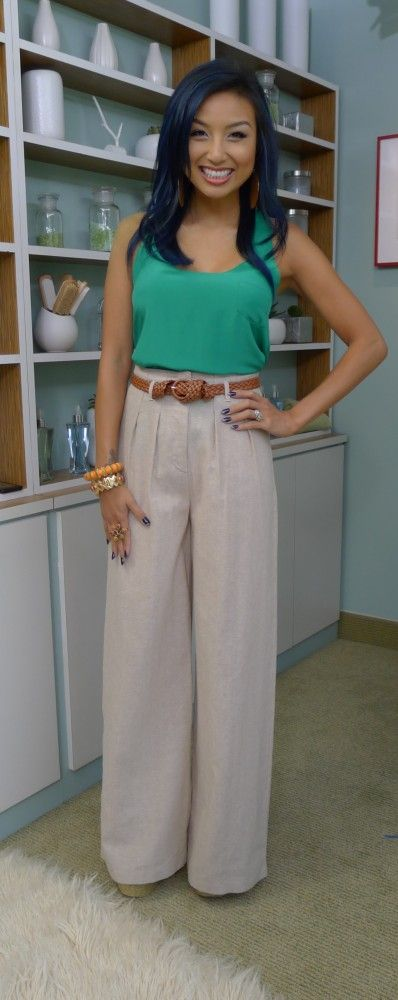 i need a pair of high waist linen wide leg pants for dinner/dressing up.