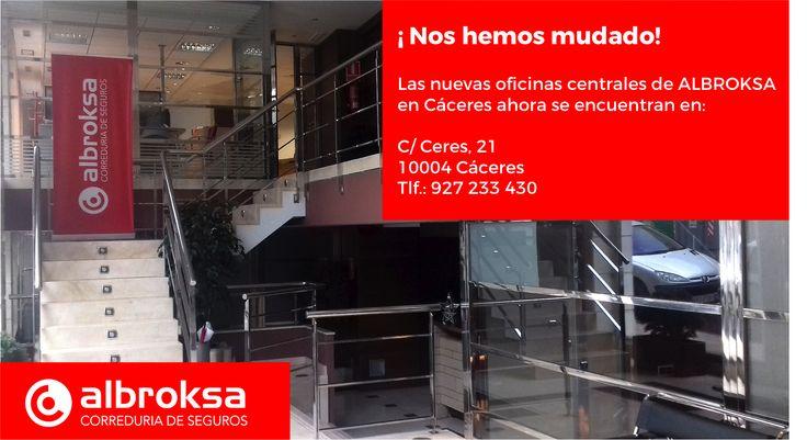 Albroksa estrena nueva sede en Cáceres #Albroksa #CorreduriaDeSeguros #FranquiciaDeSeguros  http://www.pymeseguros.com/albroksa-estrena-nueva-sede-en-cáceres