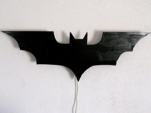 batman lamp diy