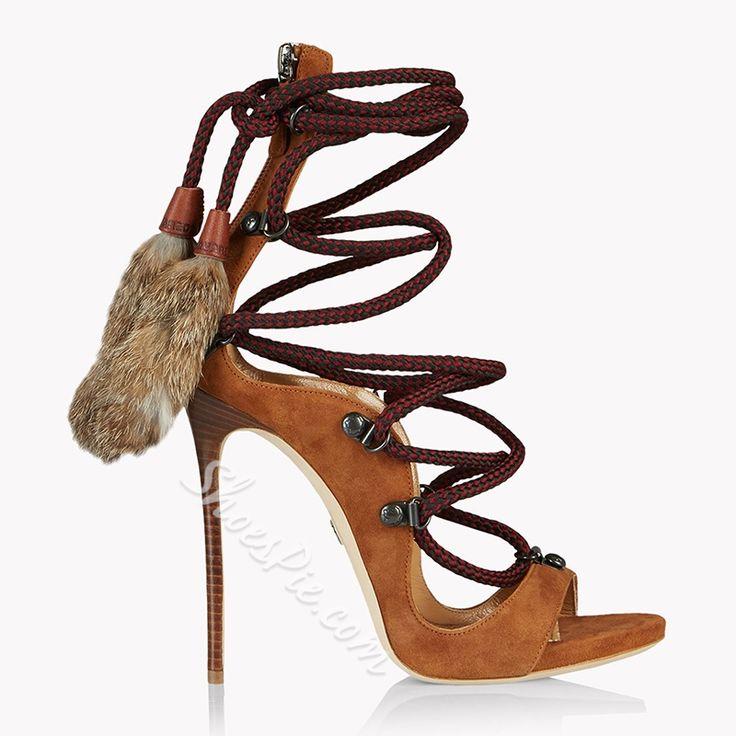 Shoespie Cross Strap Sexy High Heel Dress Sandals