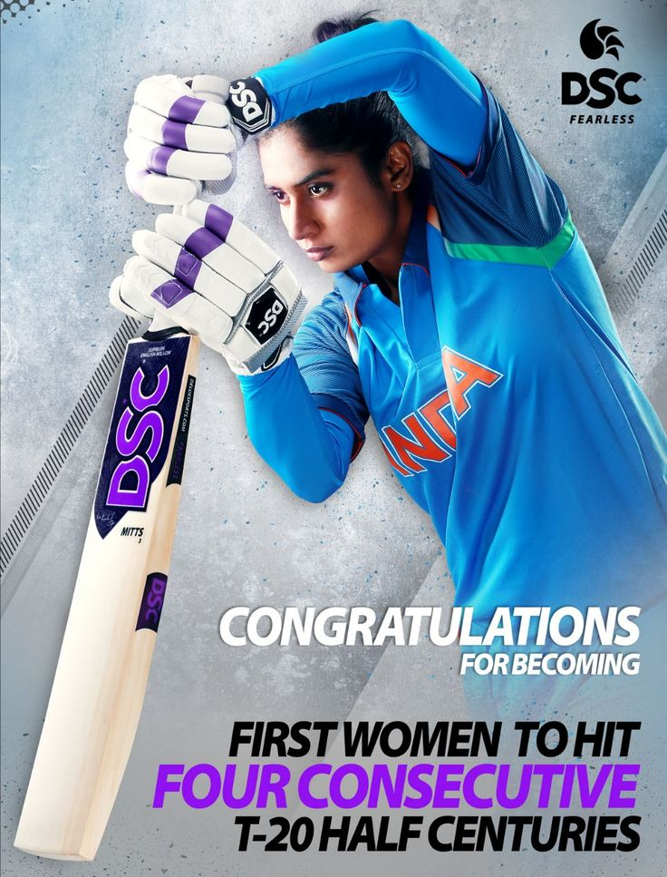 "Another blistering 76* run knock from DSC REBEL Mithali Raj lift India to a Victory in the 2nd T20I match against South Africa. And also helps her to achieve the title ""Player of the Match"" and becoming First Woman to hit Four Consecutive T20I Half-Centuries.  #DSC #DSCREBEL #IAMFEARLESS #Cricket #INDWvSAW #sports"
