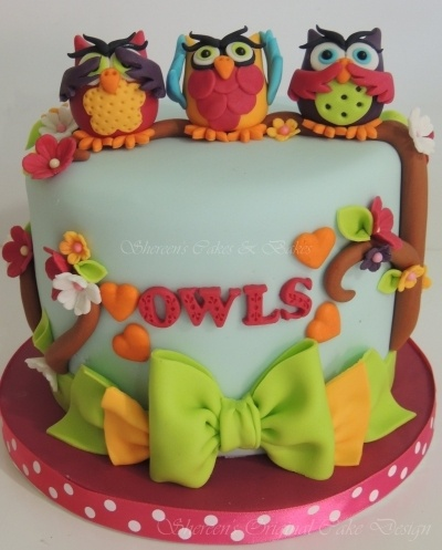 Little Owls cake It's not fabric but I couldn't resist. Maybe I'll make it from felt