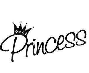 """"""" Princess Crowns Girl """" Room Decal For Walls Sticker Decor Pink Quote"""