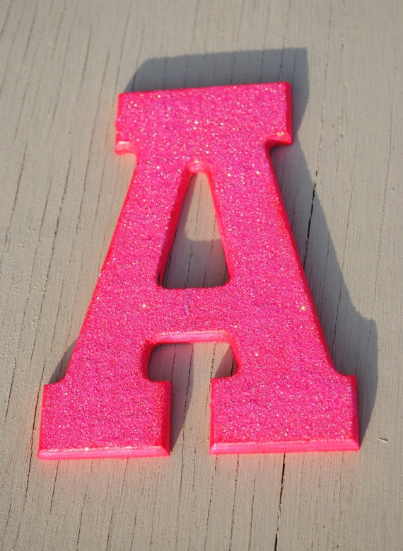 17 best images about glitter house on pinterest for Pink glitter letters