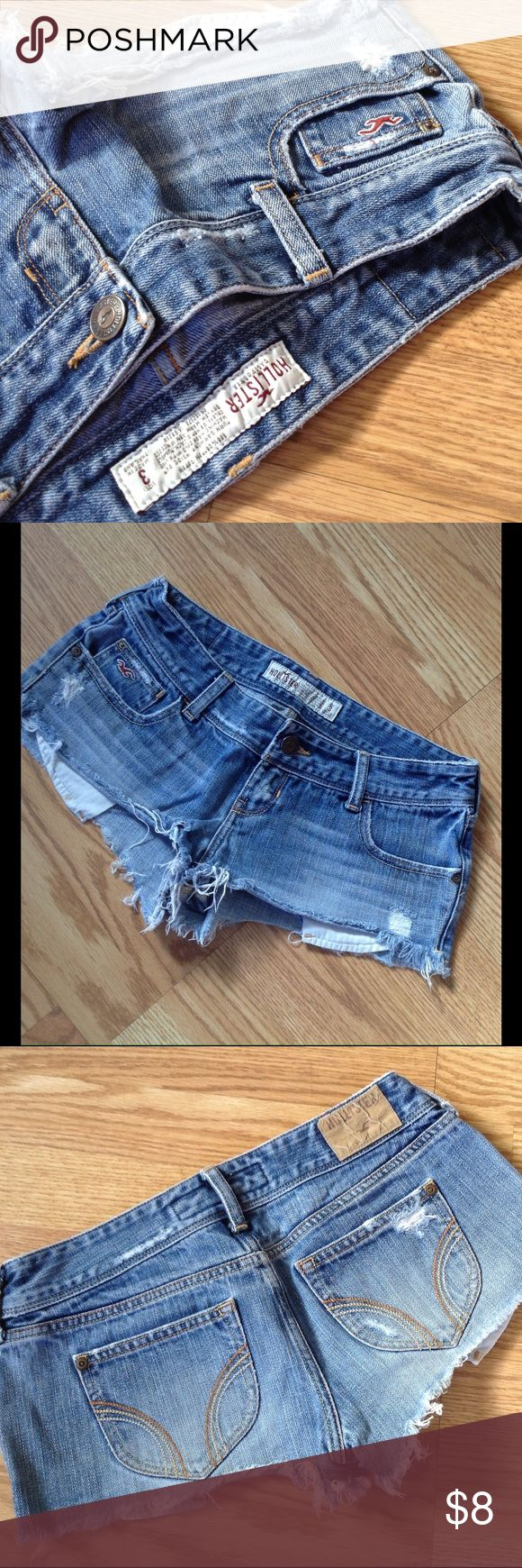 Hollister Daisy Dukes Distressed look • Pockets do hang low Hollister Shorts Jean Shorts