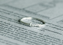 child's name on a ring, so cute