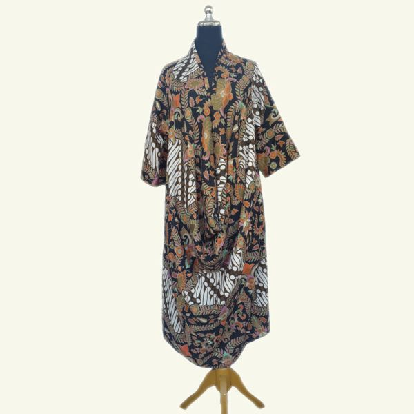 Merlin modern batik dress, made with printed batik doby fabric. Lovely style, perfect for formal events.
