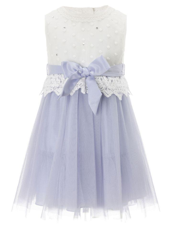 Baby Valerie Peplum Dress | Purple | Monsoon