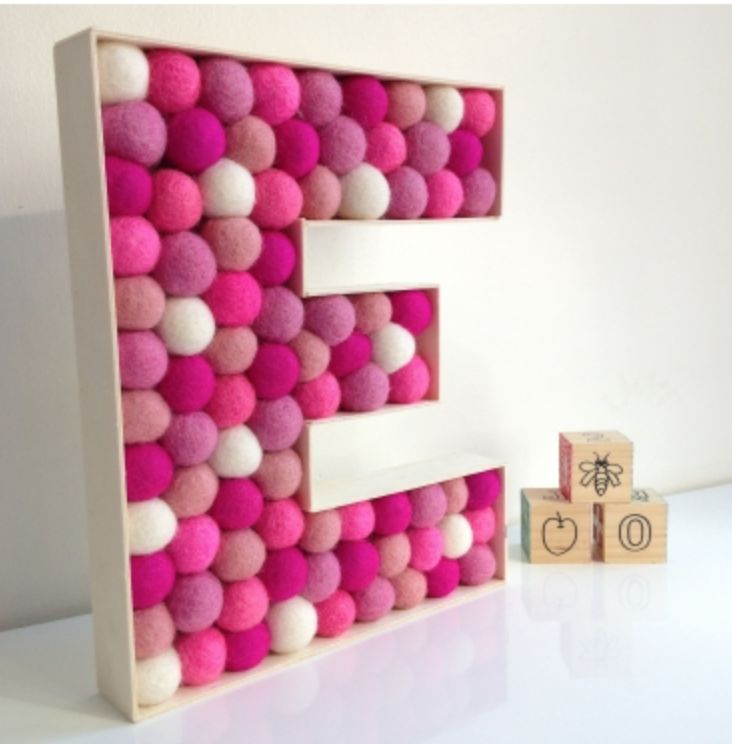 Personalised Pom Pom letters make a gorgeous finishing touch to any room