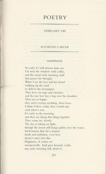 fat by raymond carver (1976) was the first major-press short-story collection by american writer raymond carver commenting positively on every aspect of the massive meal she describes the physical struggle of the fat man, his puffing and overheating after recounting the events at the dinner.