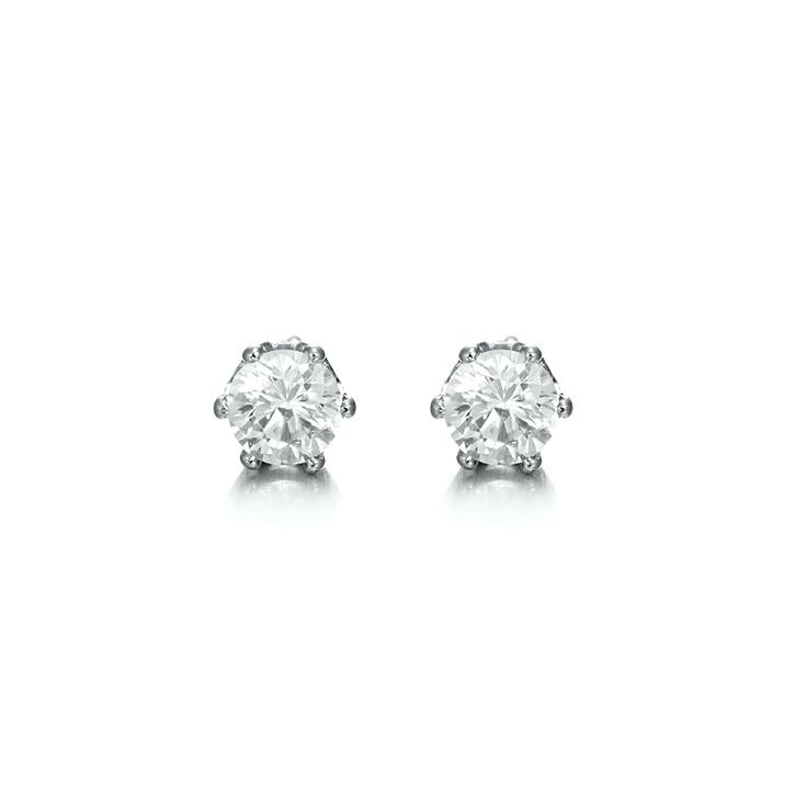 White Gold Layered Small Stud Earring | Allure Gold