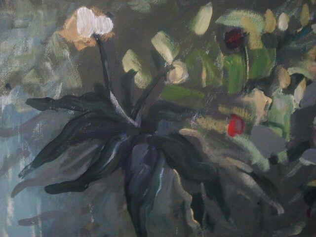 Garden (detail), Acrylic on board, 50cm/80cm, 2014