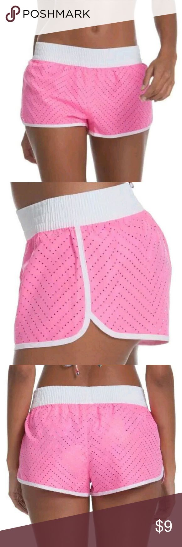 NWT OP Juniors Size 3/5 Small Swim Shorts NWT OP Juniors Size 3/5 Small Swim Perforated Solid Boardshort Swim Cover-Up Embrace all that summer has to offer with the adorable OP Juniors Swim Essential Swim Board Shorts.  They are made of 100-percent polyester, are a solid color, and feature perforated fabric placed in a trendy chevron design. The adjustable drawstring with ribbed elastic waist offers an easy on/off and a sure fit.  Pair with your favorite OP bikini as a swim bottom, or use…
