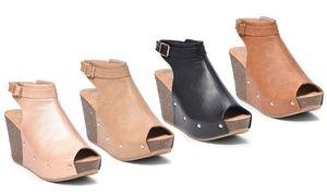 Groupon - SFD Mara-23 Women's Open-Toe Wedge Booties. Groupon deal price: $29.99
