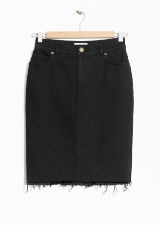 & Other Stories | Raw Edge Denim Skirt