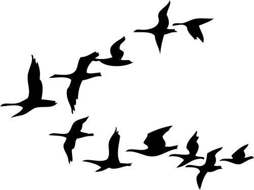 birds in flight illustrations   geese Illustration of Flying geese symbol,vector,illustration,bird ...