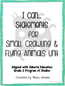 i can statements for small crawling flying animals unit. Black Bedroom Furniture Sets. Home Design Ideas