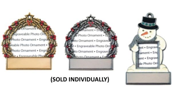Engraved Picture Frame Ornaments