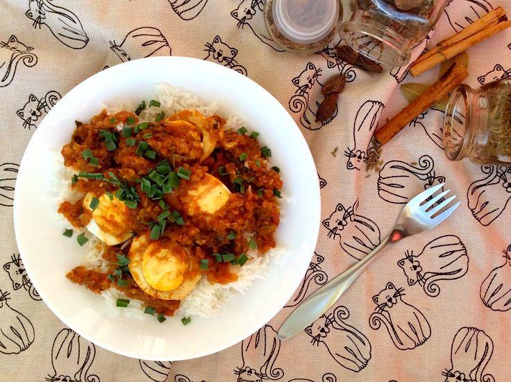 Vajíčkové karí s rýží