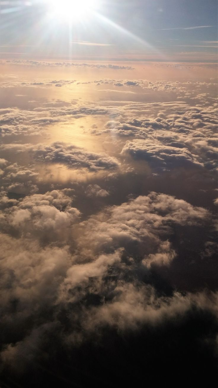 Taken from the window of my first flight, so lucky.