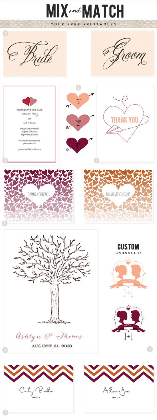 110 best Free Wedding Printable\'s images on Pinterest | Free ...