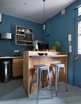 3) exit la douche dans l'entrée, place à la cuisine