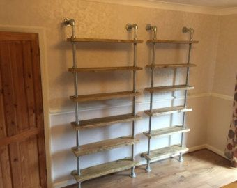 Scaffold Shelving urban Industrial Galvanised by Theoldwoodhut