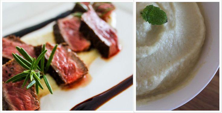 Biefstuk met rode wijnsaus en knolselderijpuree