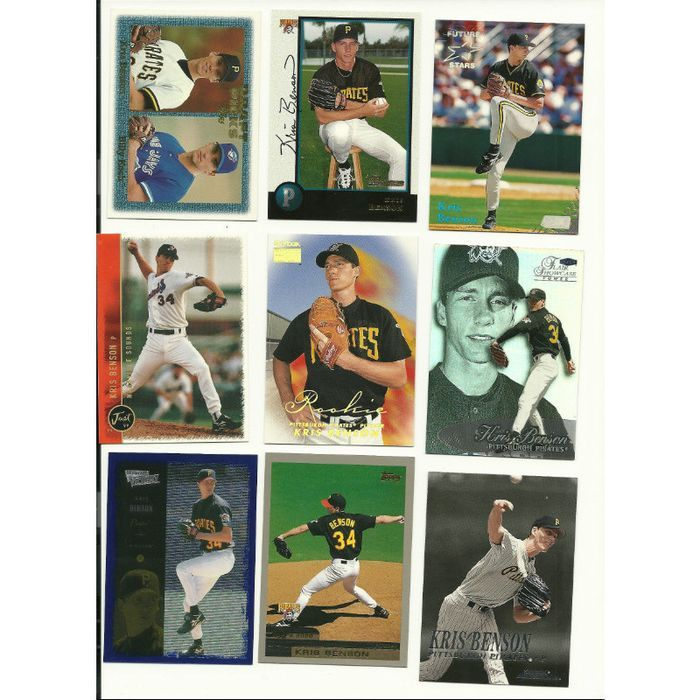 HUGE Different 45 + KRIS BENSON cards lot all Pirates 1997 - 2004 Listing in the 1990-1999,Lots,MLB,Baseball,Sports Cards,Sport Memorabilia & Cards Category on eBid United States   147730314