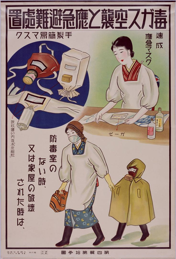 Japanese Air Raid Precaution poster (around 1938)