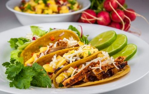Grilled Mexican Chicken Tacos with Fresh Pineapple Salsa; 2014 Jane Bonacci, The Heritage Cook