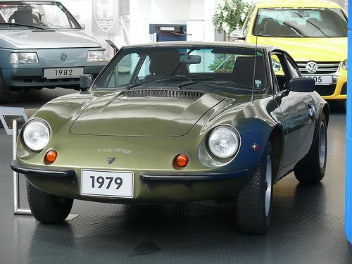 Volkswagen VW Puma SP1 green 1979 vl.  This was a Brazilian market only car, done in fiberglass, by a Brazilian chassis builder working in collaborator with VW.