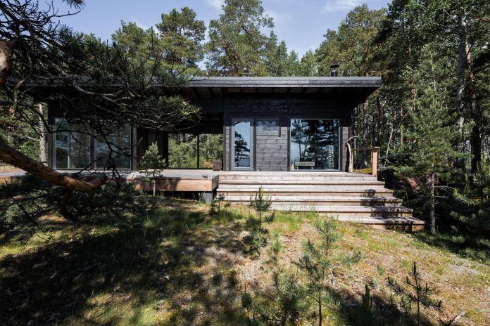 Summer House on the unique rocky land on the Baltic Sea Island by Pluspuu Oy - CAANdesign | Architecture and home design blog