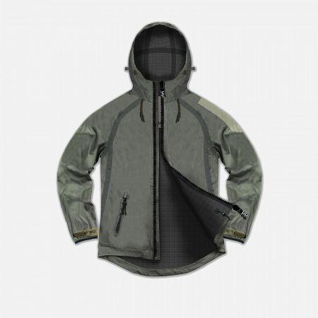 Мужская куртка Dupe Acid Tech 3L Hooded Shell Concrete Grey/Dupe Logo Print