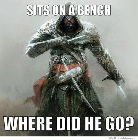 Assassin's Creed logic. The guards in these games are completely incompetent idiots.