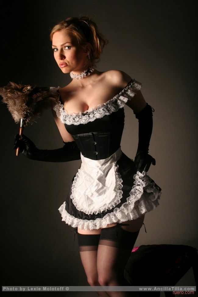 Sexy french maid uniform business!