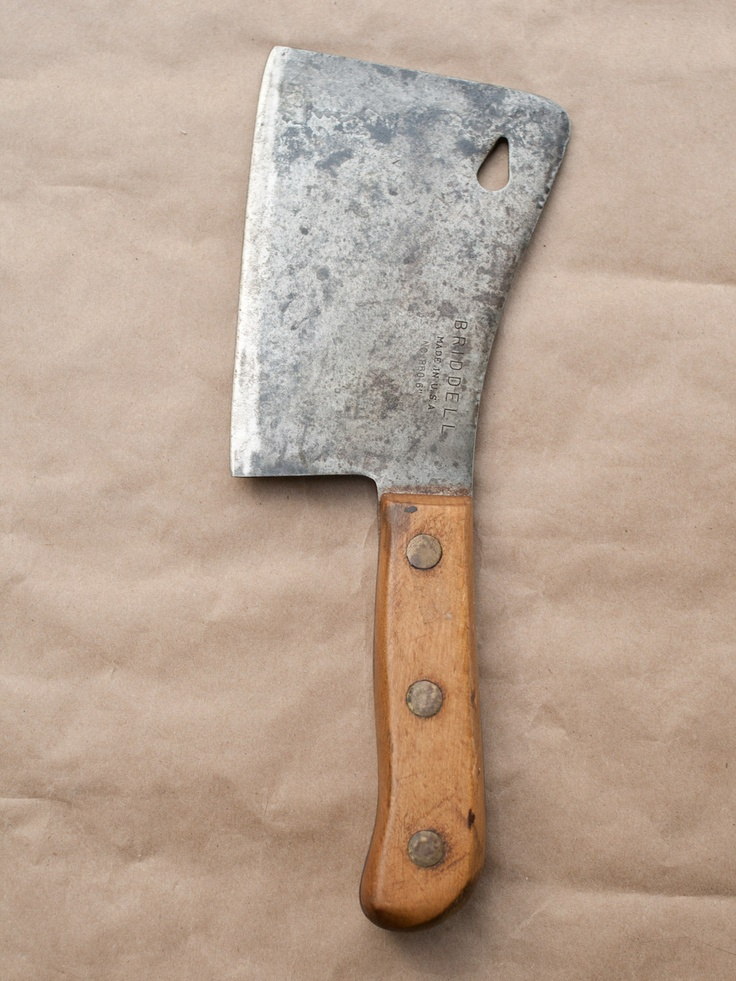 Lady's Meat Cleaver - vintage artifact from Gilt Taste sale