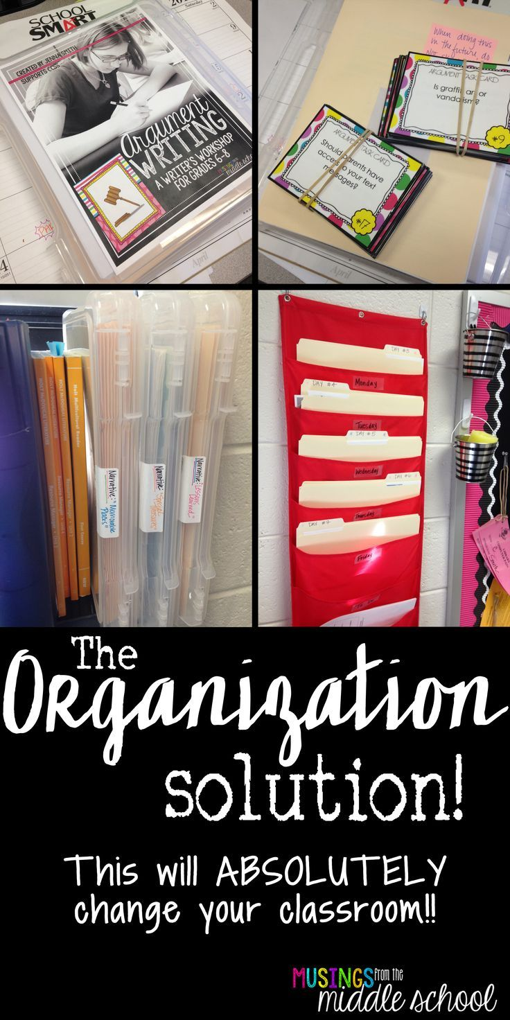 Blog post with a great way to organize your materials for teaching each unit