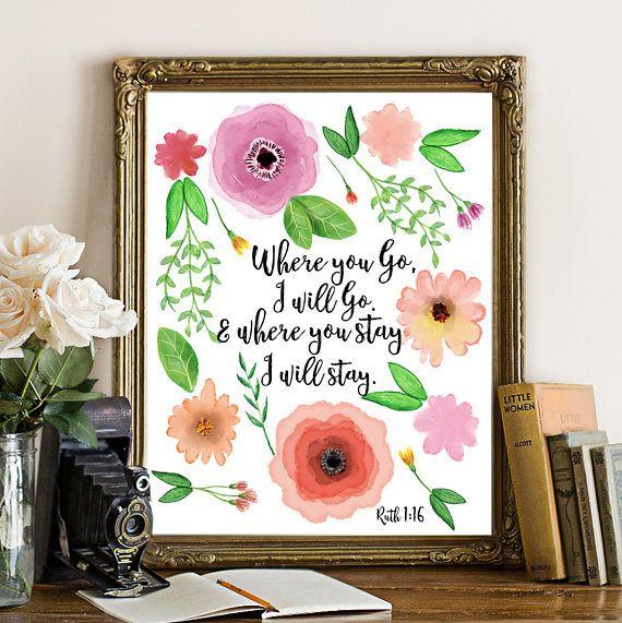 Ruth 1:16 Where you go I will go Bible printable bible