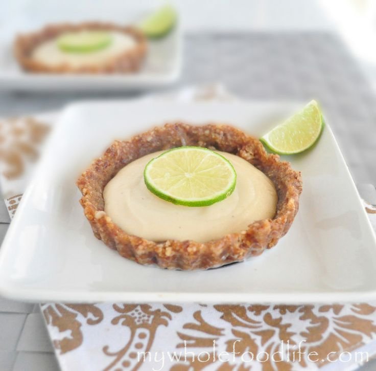 Key Lime Mini Tarts perfect for summer. Vegan, gluten free, grain free and no processed sugars.