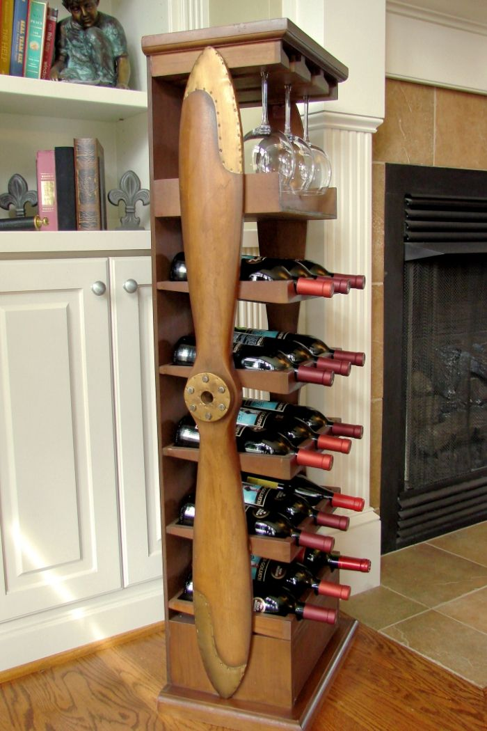 Large Wood Airplane Propeller Wine Rack Wine Rack