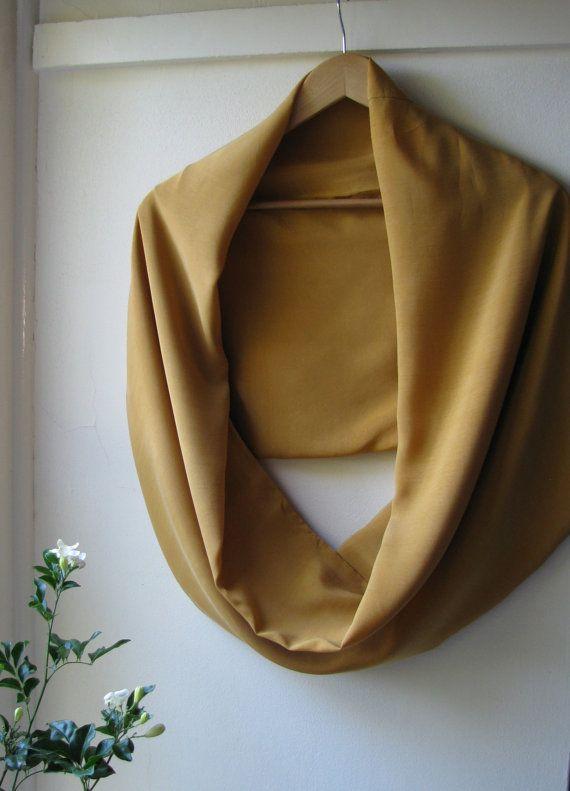 Golden   Tencel infinity scarf by juliecannonjewellery on Etsy, $65.00